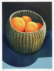 Oranges in a Seagrass Basket